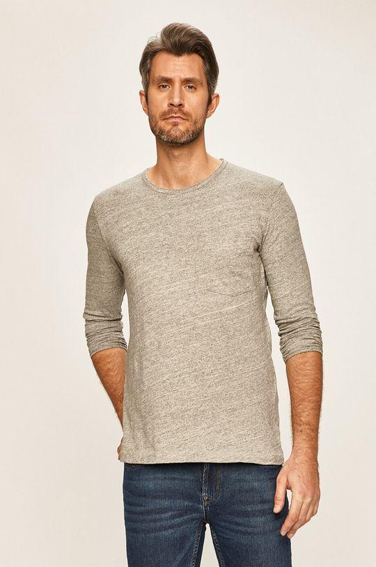 svetlosivá Selected - Pánske tričko s dlhým rukávom Pánsky