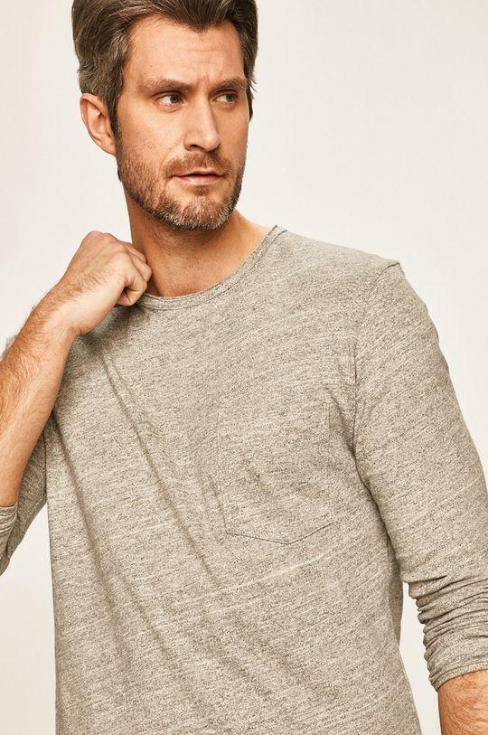 svetlosivá Selected - Pánske tričko s dlhým rukávom