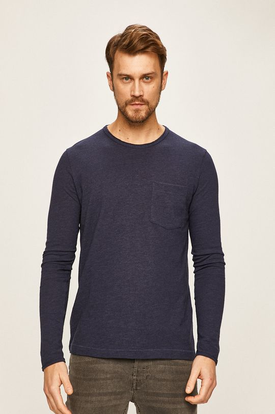 námořnická modř Selected - Tričko s dlouhým rukávem Pánský