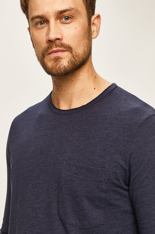 námořnická modř Selected - Tričko s dlouhým rukávem