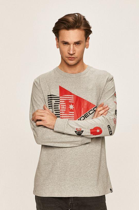 sivá Dc - Pánske tričko s dlhým rukávom Pánsky