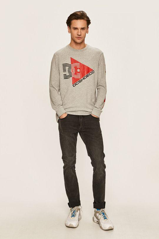 Dc - Pánske tričko s dlhým rukávom sivá