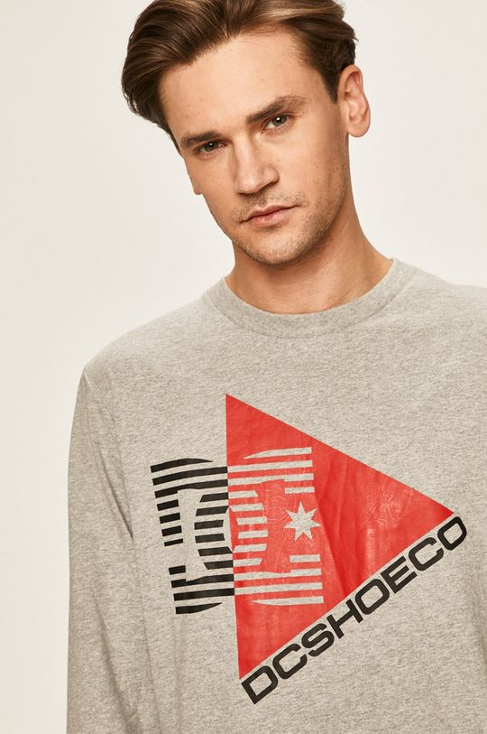 sivá Dc - Pánske tričko s dlhým rukávom