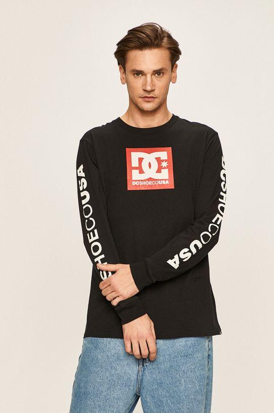 čierna Dc - Pánske tričko s dlhým rukávom Pánsky