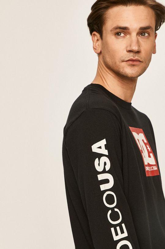 čierna Dc - Pánske tričko s dlhým rukávom
