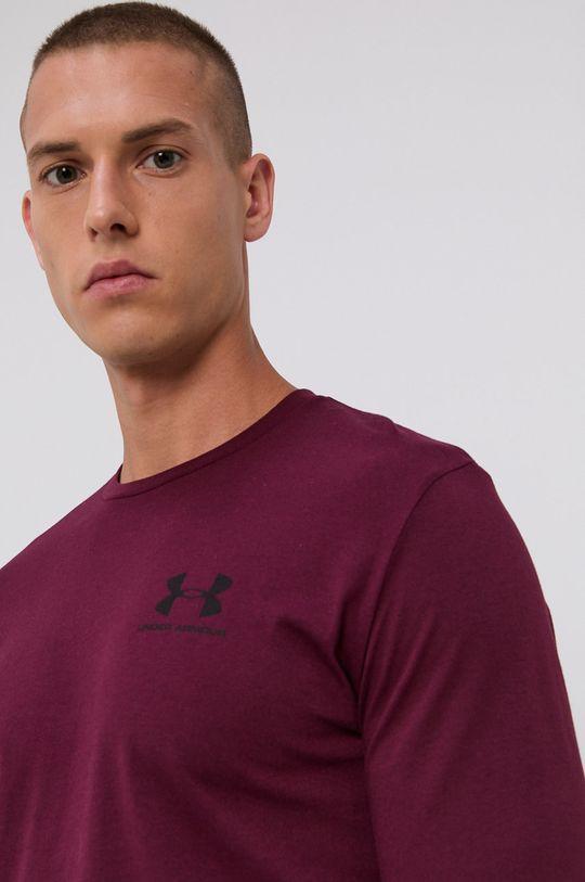 mahagónová Under Armour - Tričko s dlhým rukávom