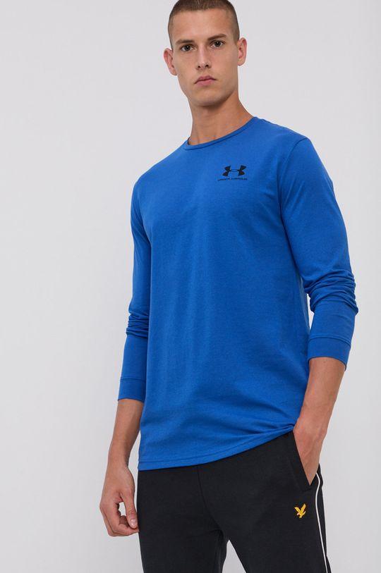 oceľová modrá Under Armour - Pánske tričko s dlhým rukávom Pánsky