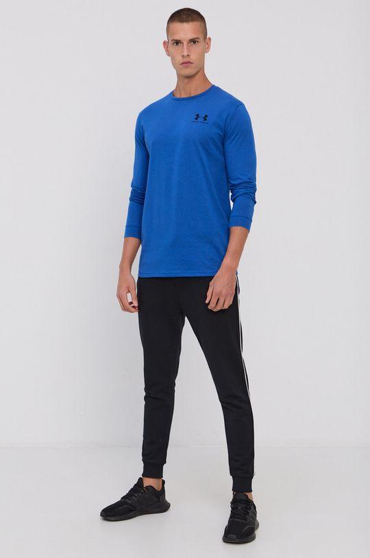 Under Armour - Pánske tričko s dlhým rukávom oceľová modrá