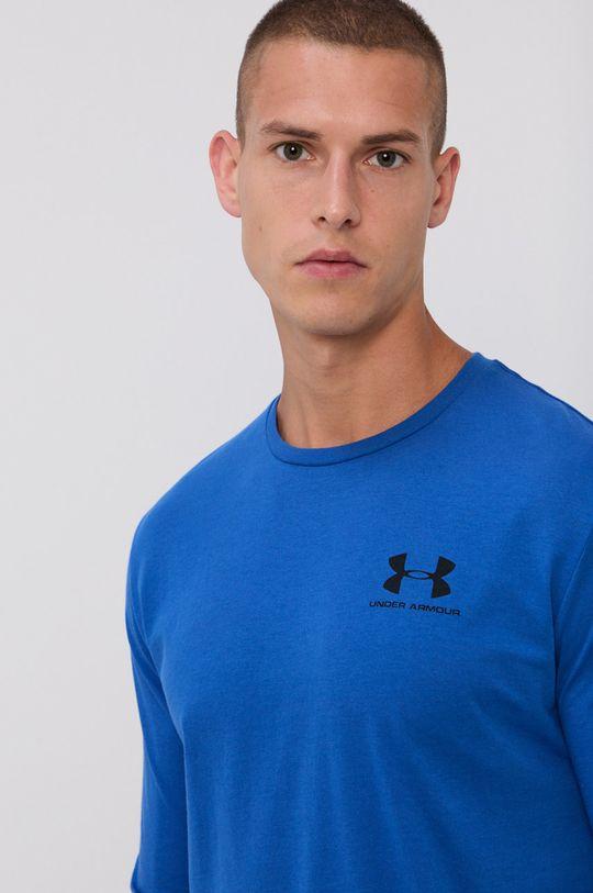 oceľová modrá Under Armour - Pánske tričko s dlhým rukávom