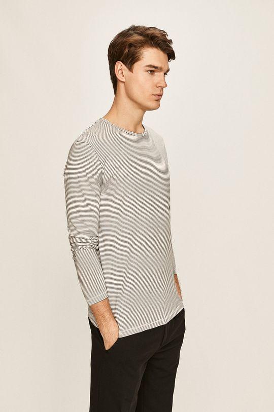 biela Selected - Pánske tričko s dlhým rukávom Pánsky