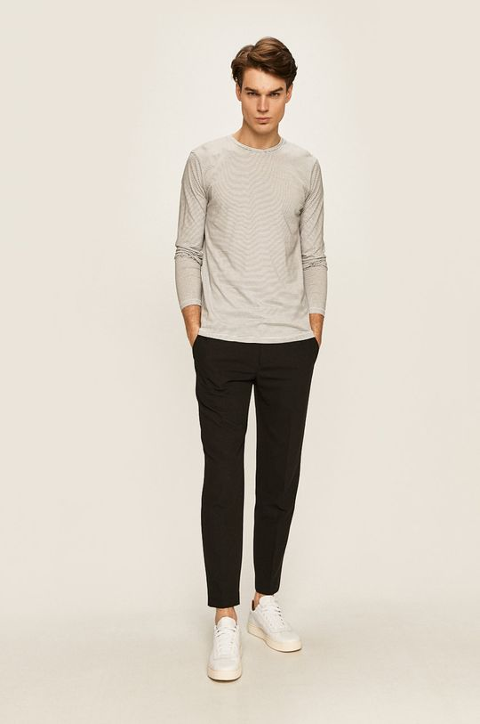 Selected - Pánske tričko s dlhým rukávom biela
