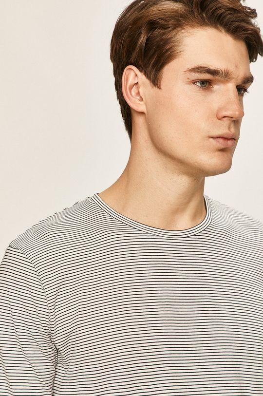 biela Selected - Pánske tričko s dlhým rukávom