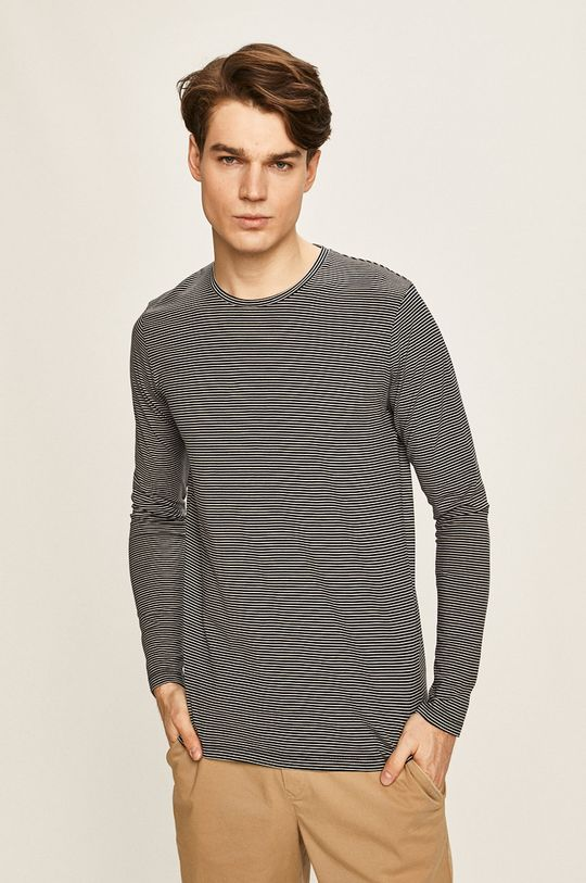 tmavomodrá Selected - Pánske tričko s dlhým rukávom Pánsky