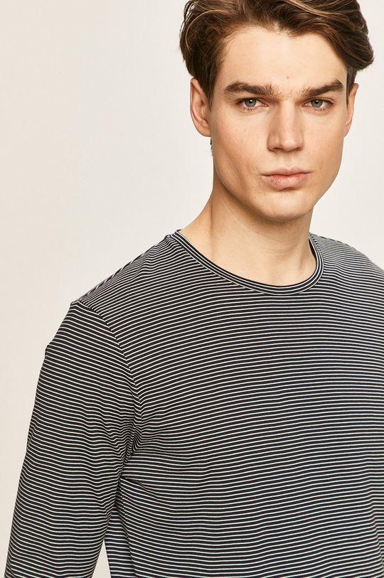 tmavomodrá Selected - Pánske tričko s dlhým rukávom