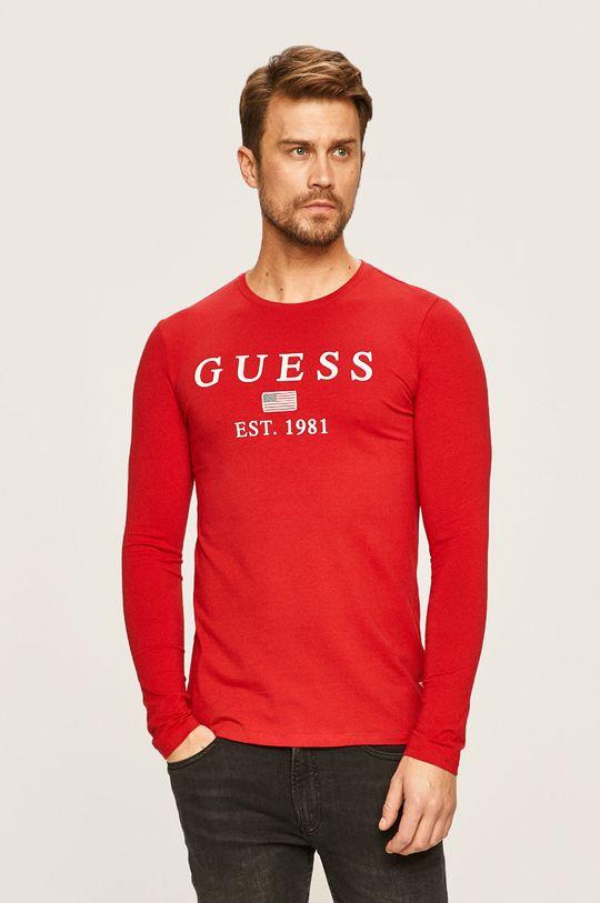 rosu Guess Jeans - Longsleeve De bărbați