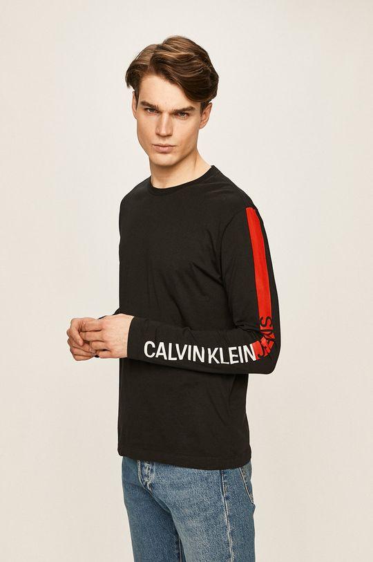 čierna Calvin Klein Jeans - Pánske tričko s dlhým rúkavom Pánsky