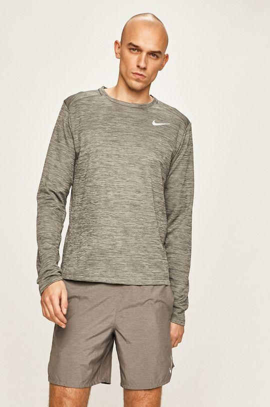 světle šedá Nike - Tričko s dlouhým rukávem Pánský