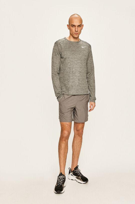 Nike - Tričko s dlouhým rukávem světle šedá