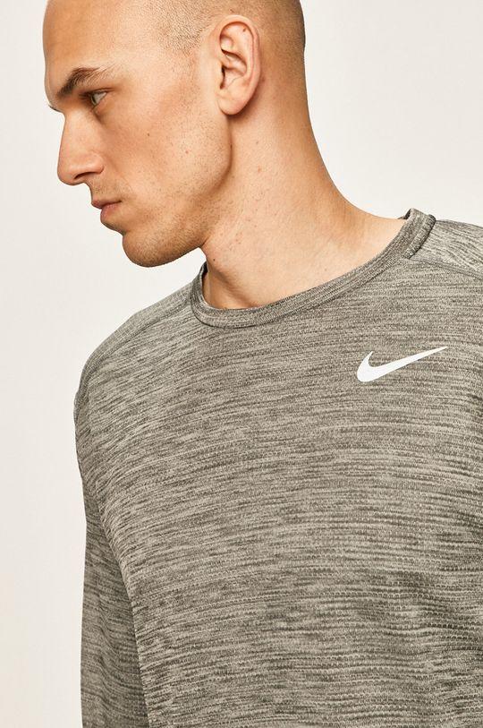 světle šedá Nike - Tričko s dlouhým rukávem