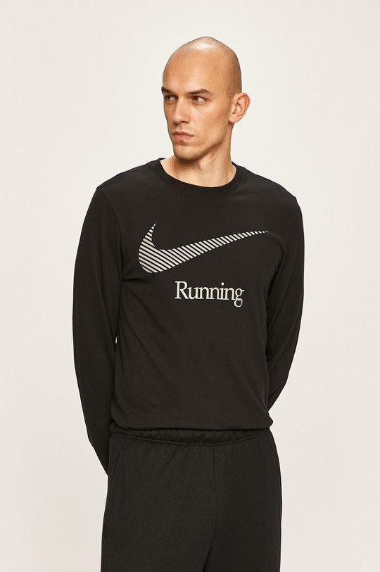 černá Nike - Tričko s dlouhým rukávem Pánský