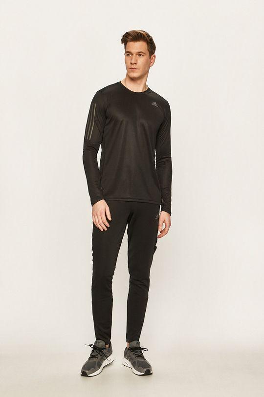 adidas Performance - Tričko s dlouhým rukávem černá