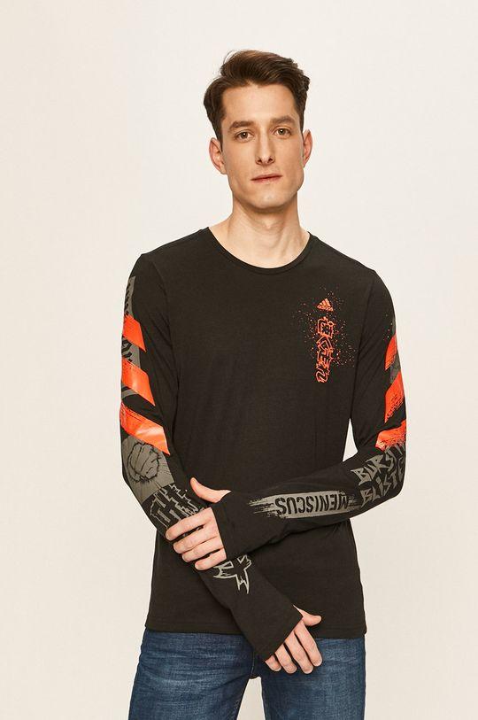 černá adidas Performance - Tričko s dlouhým rukávem Pánský