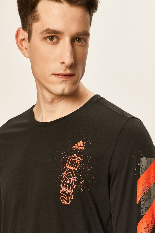černá adidas Performance - Tričko s dlouhým rukávem