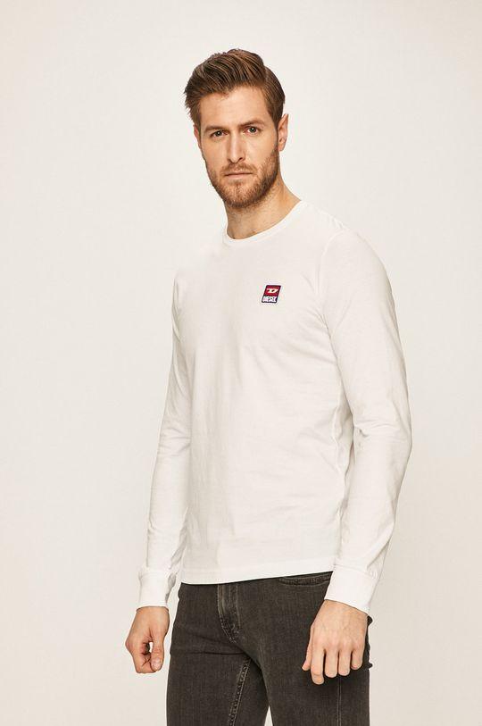 bílá Diesel - Tričko s dlouhým rukávem Pánský