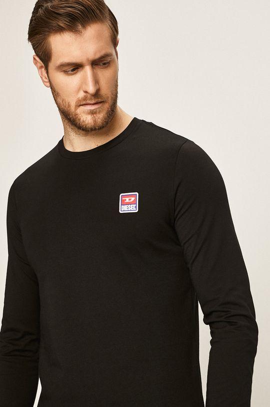 černá Diesel - Tričko s dlouhým rukávem Pánský