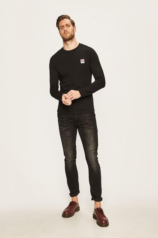 Diesel - Tričko s dlouhým rukávem černá