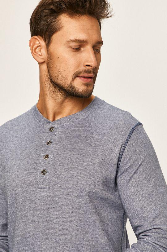 modrá Premium by Jack&Jones - Tričko s dlouhým rukávem Pánský