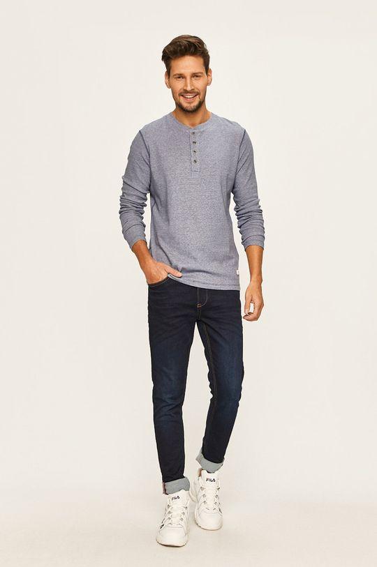 modrá Premium by Jack&Jones - Tričko s dlouhým rukávem