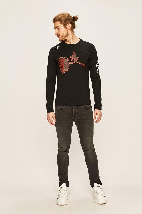Calvin Klein Jeans - Pánske tričko s dlhým rukávom CK one čierna