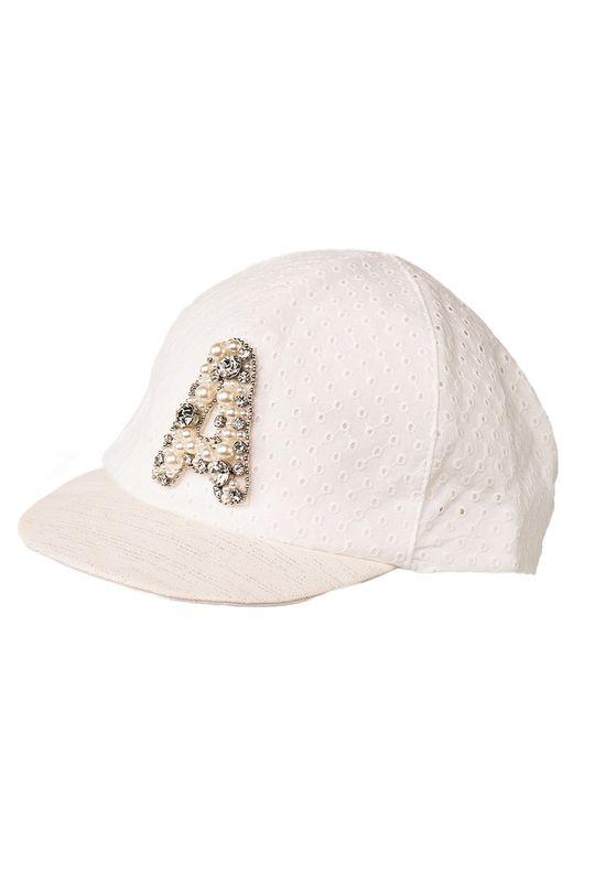 бял Jamiks - Детска шапка Момиче