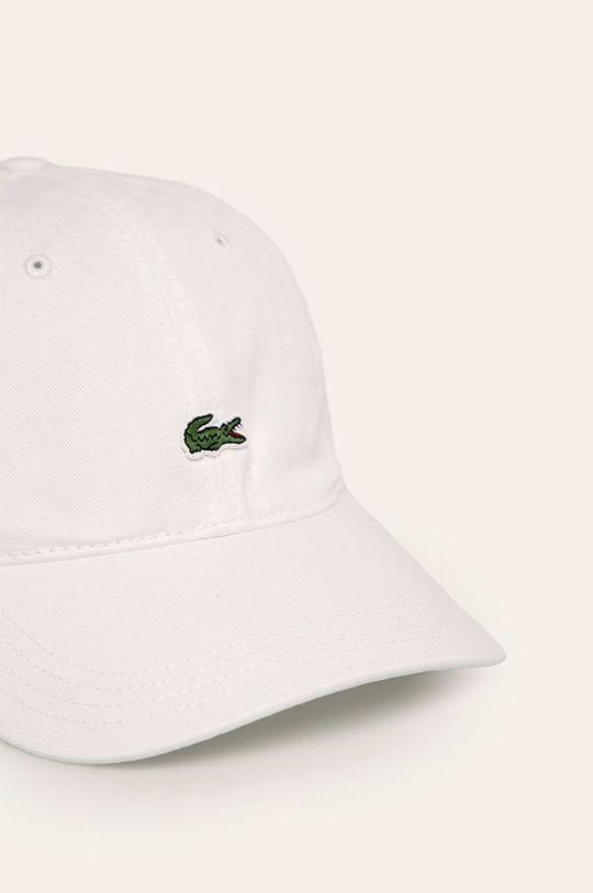 Lacoste - Czapka biały