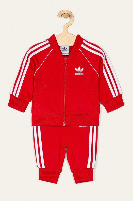 červená adidas Originals - Detská tepláková súprava 62-104 cm Detský