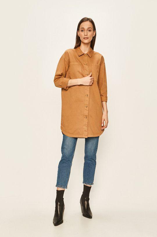 Vero Moda - Koszula brązowy