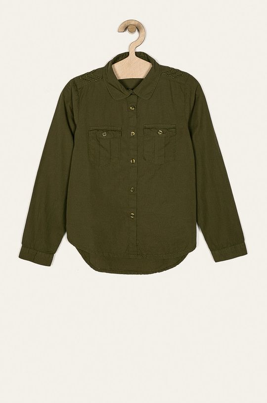 olivová Name it - Detská košeľa 116-164 cm Dievčenský