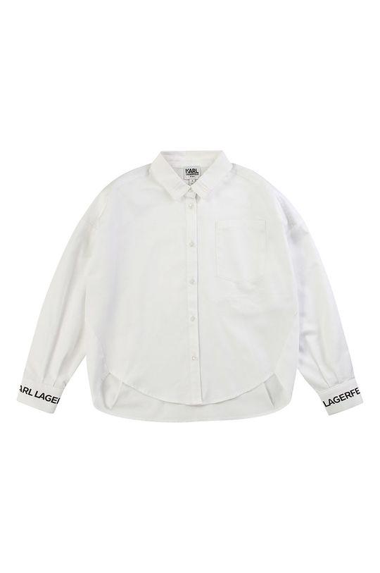biały Karl Lagerfeld - Koszula dziecięca 114-150 cm Dziewczęcy