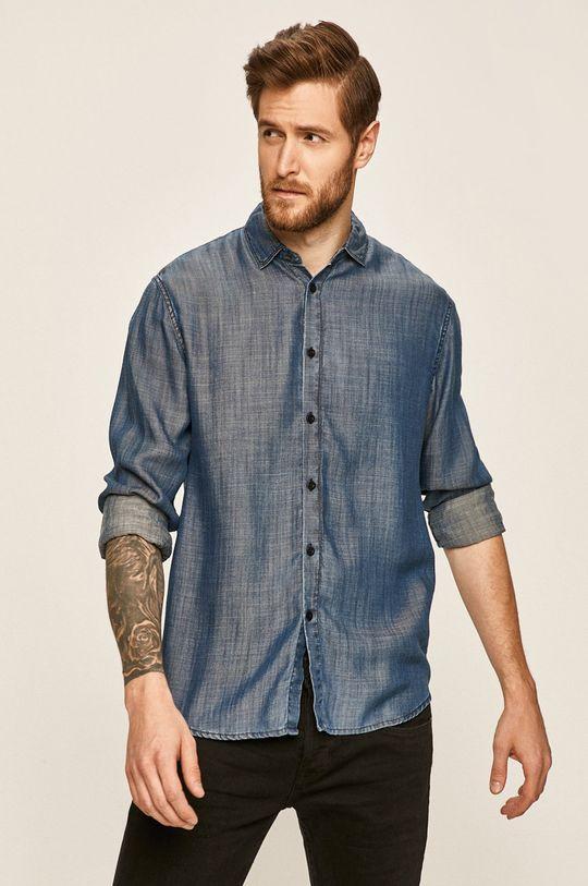 modrá Guess Jeans - Košeľa Pánsky