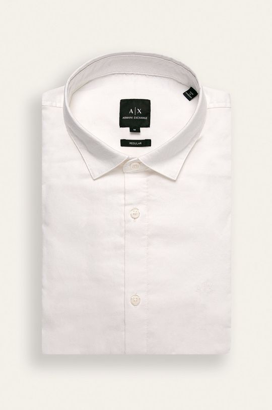 alb Armani Exchange - Camasa De bărbați