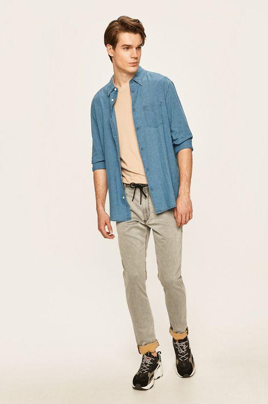 Wrangler - Koszula 68 % Bawełna, 32 % Len