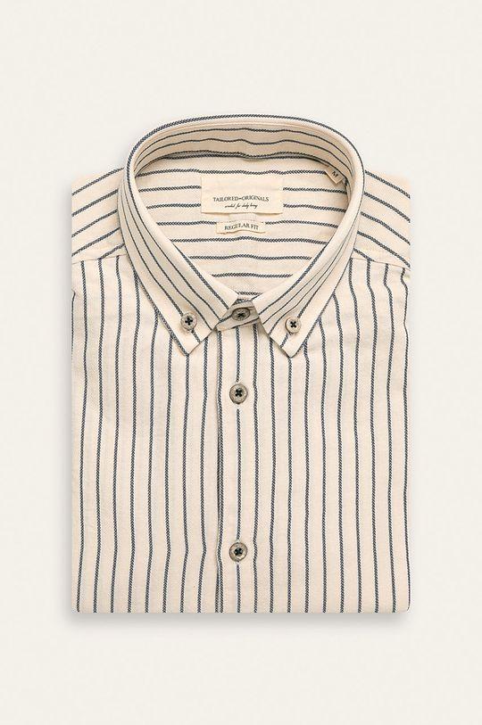 kremowy Tailored & Originals - Koszula Męski