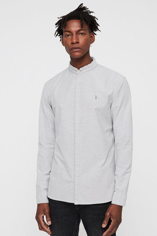 bílá AllSaints - Košile Augusta Pánský