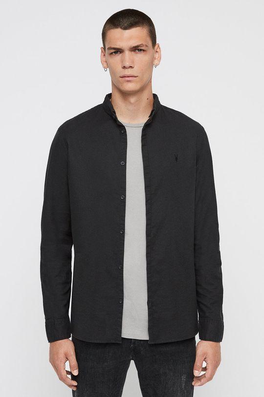 černá AllSaints - Košile Augusta Pánský