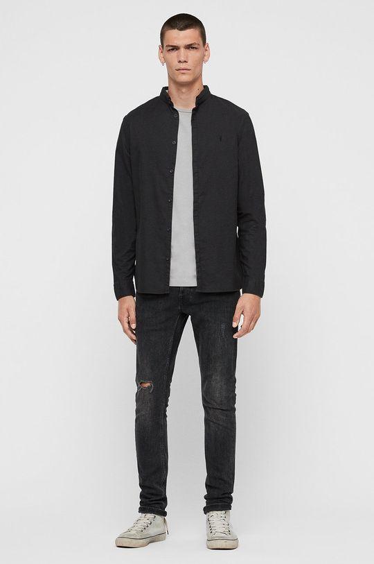 AllSaints - Košile Augusta černá
