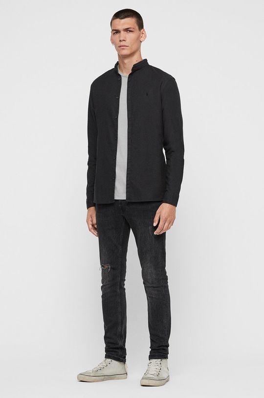černá AllSaints - Košile Augusta