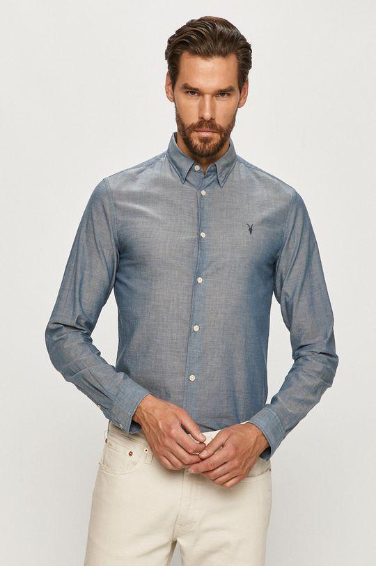 niebieski AllSaints - Koszula Irvine Męski
