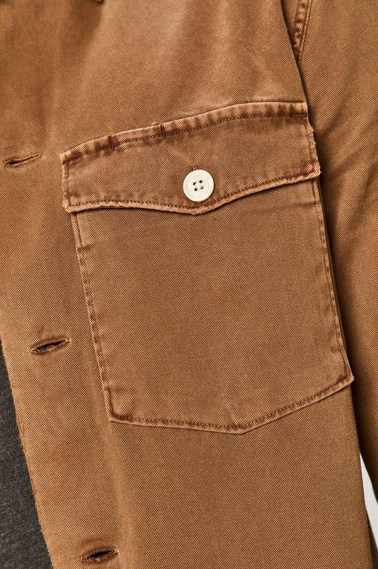 AllSaints - Koszula bawełniana brązowy
