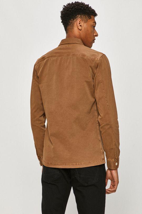 brązowy AllSaints - Koszula bawełniana